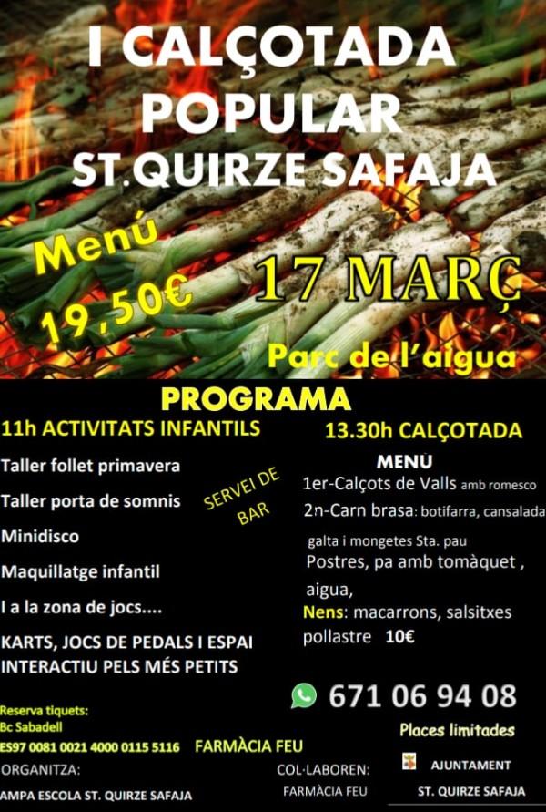 I calçotada popular St Quirze Safaja