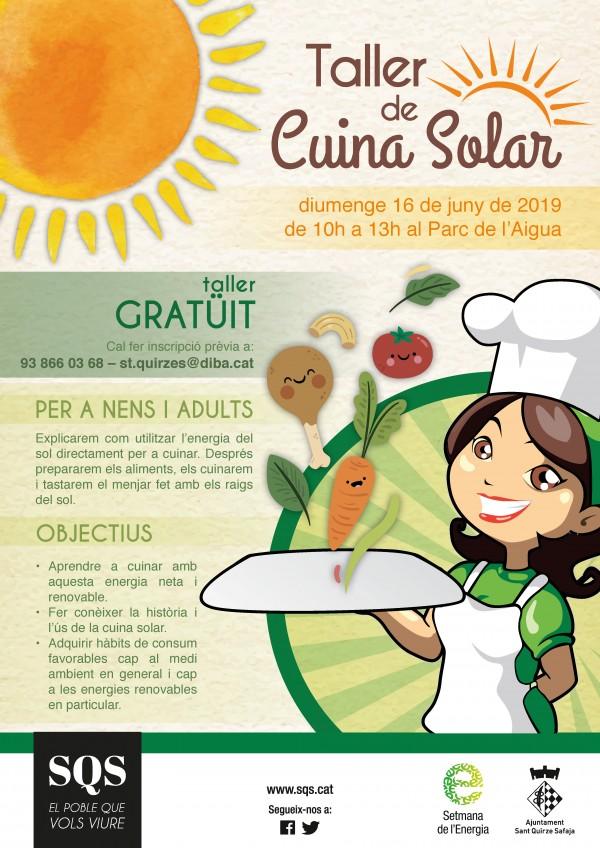 Taller de cuina solar